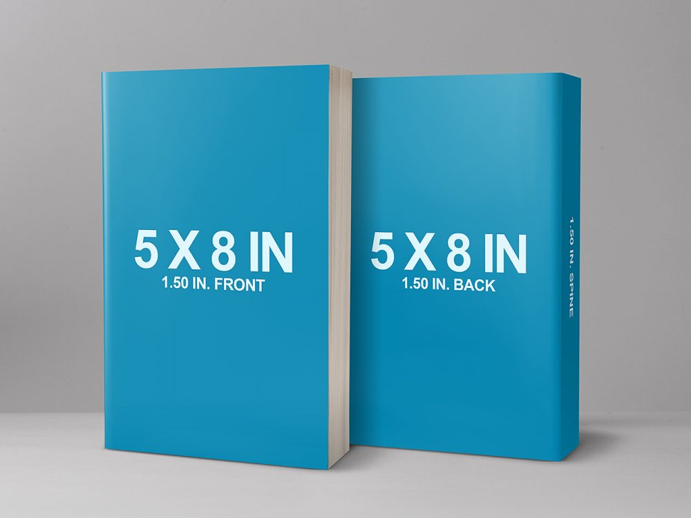 Front and Back Cover Paperback Mockup