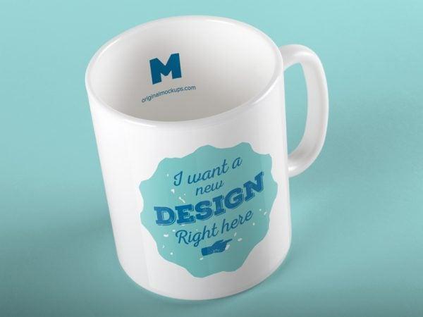 Free Tea Mug Mockup