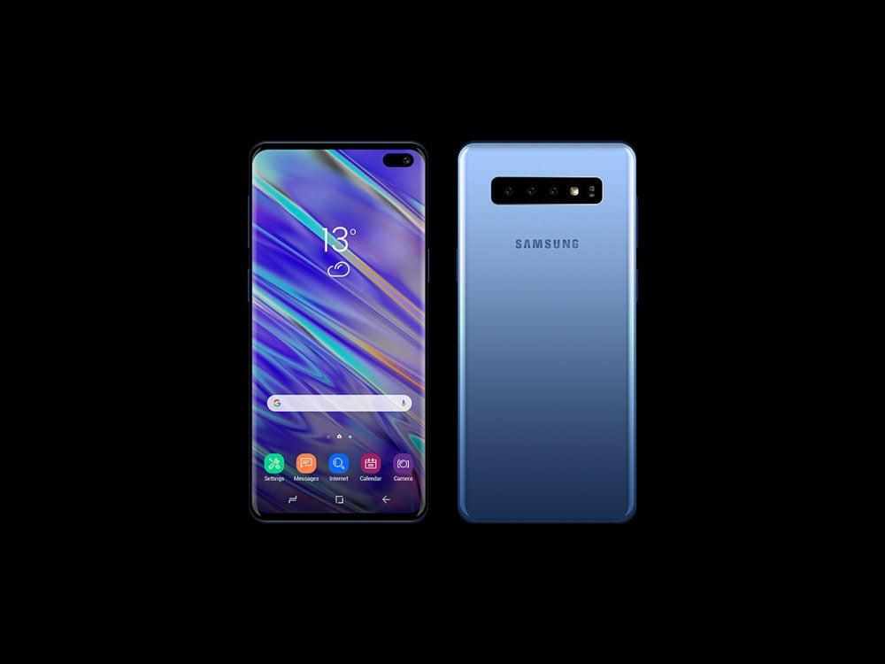 Samsung S10 Mockup Free