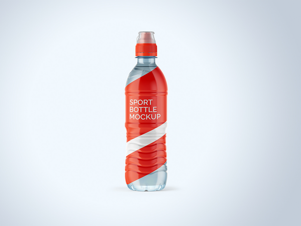 Water Sport Bottle Free Mockup 500ml