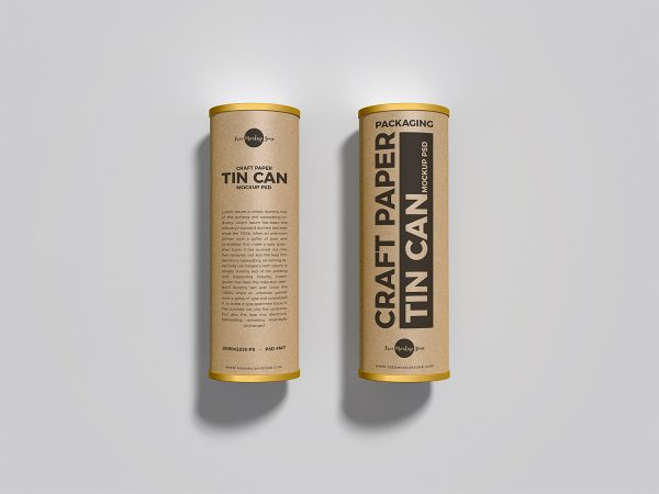 Craft Tin Cans Free Mockup
