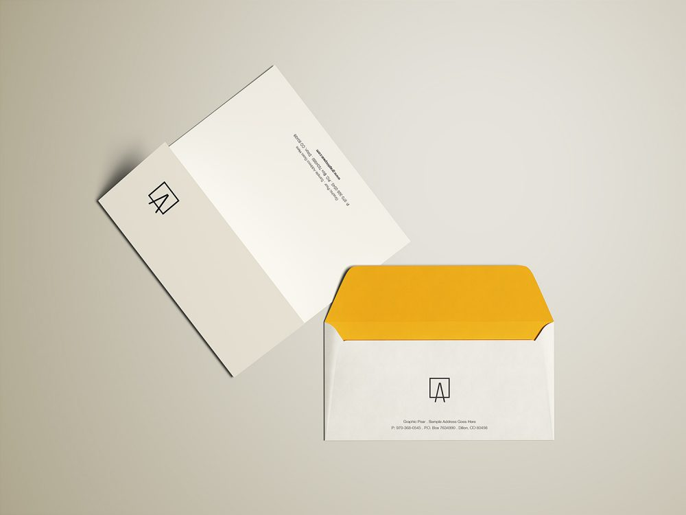 Envelope and Letterhead Free Mockup