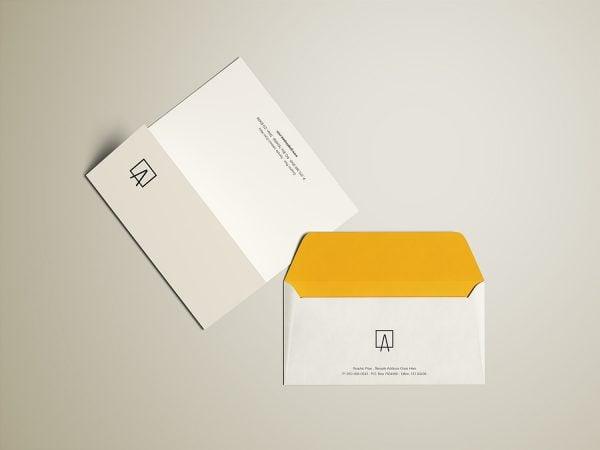 Envelope and Letterhead Free Mockup