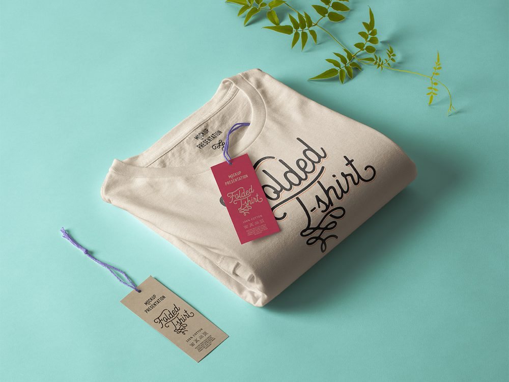 Folded T-Shirt Free Mockup