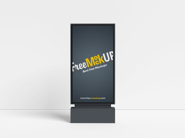 Minimalist City Light Outdoor Advertising Mockup