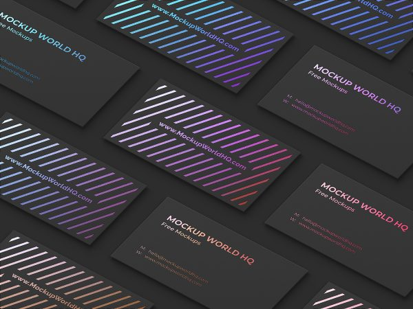 Business Card Grid Free Mockup