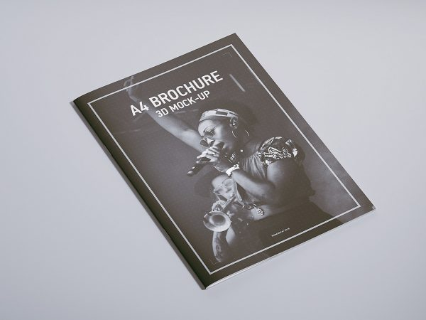 Free A4 Magazine Brochure Mock-up