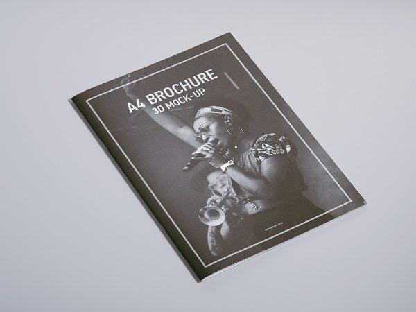 Free A4 Magazine Brochure Mock-up
