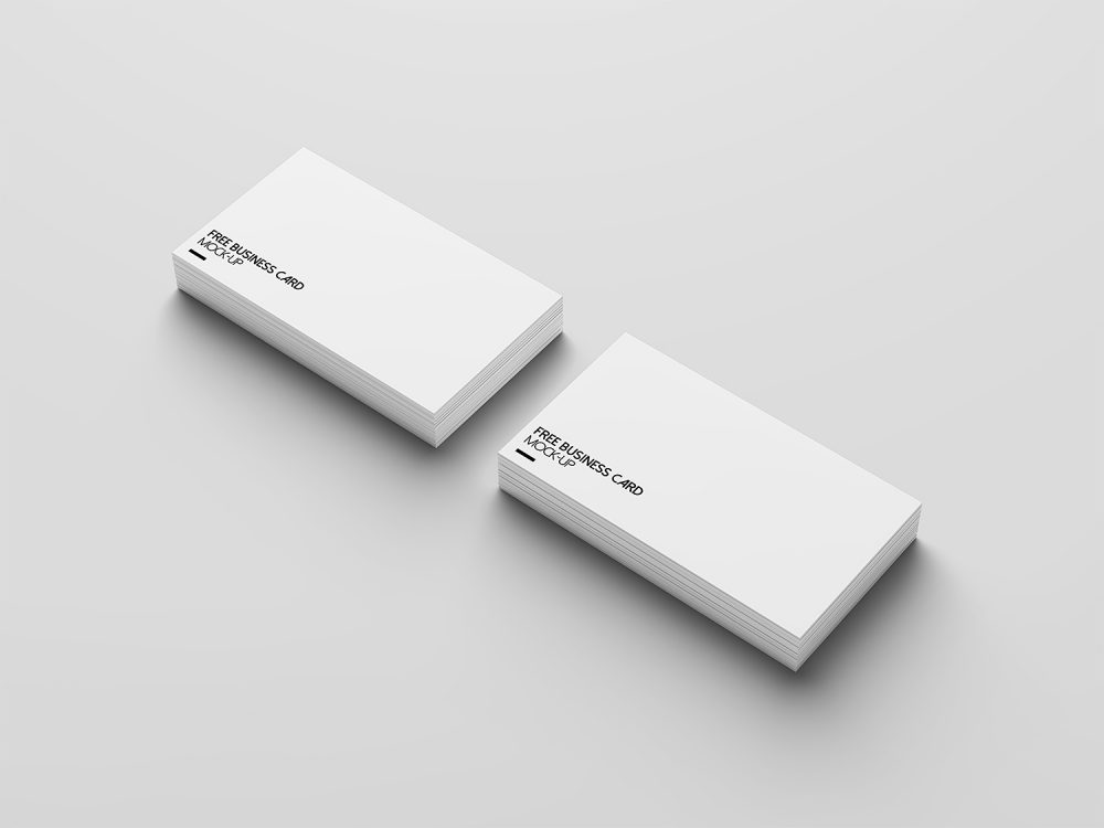 4 Free Business Card Mock-Up