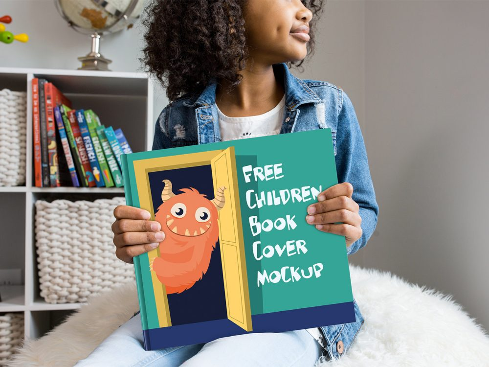Free Children Book Cover Mockup