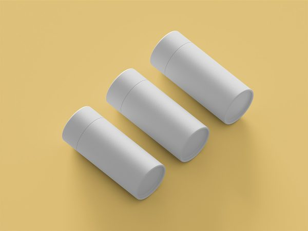 Free Paper Tube Packaging Mockup