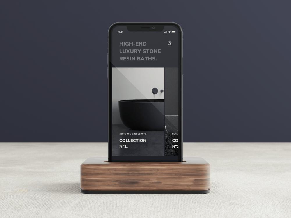 Free iPhone X in Dock Mockup