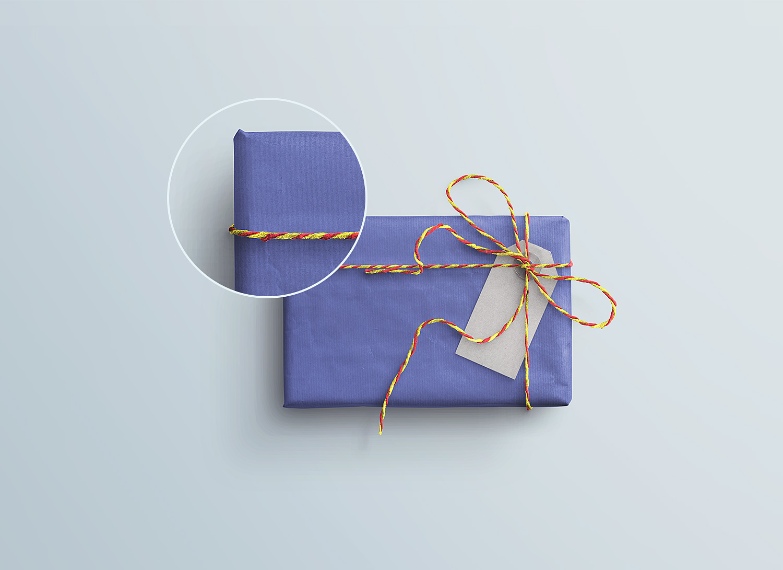 Gift Box Tag Psd Mockup Free Mockup
