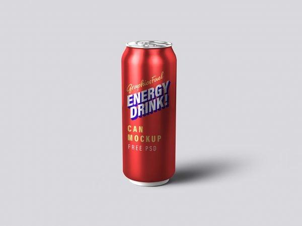 Energy Drink Tin Can PSD Mockup