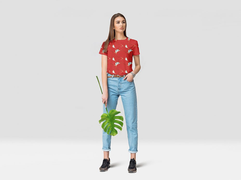 Female T-Shirt Mockup Free Demo