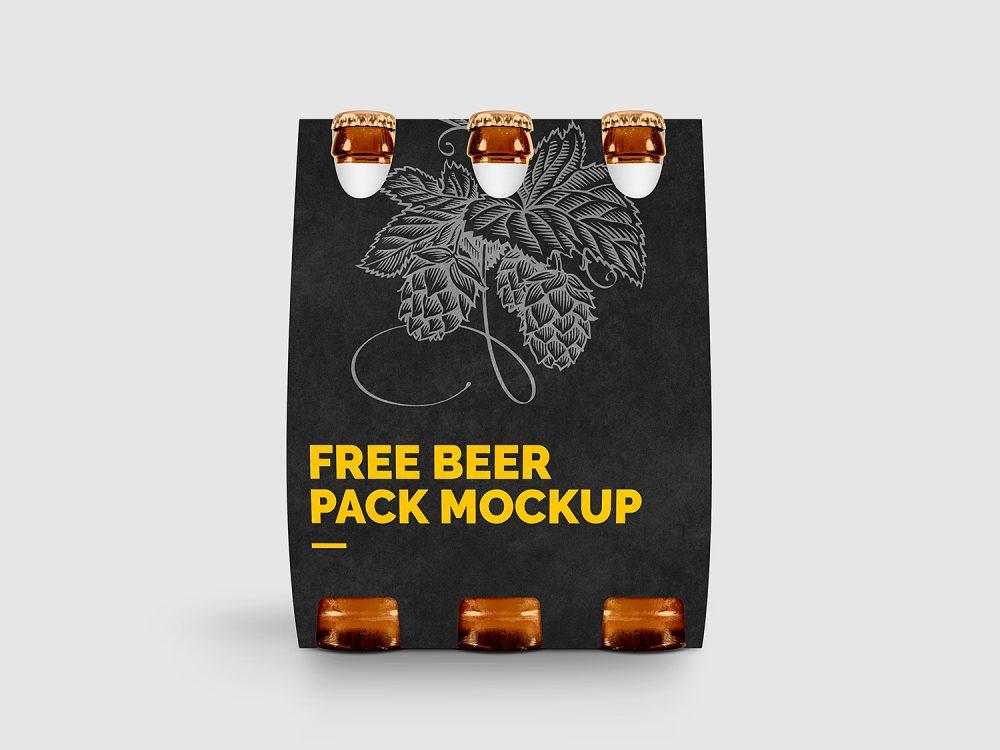 Free Beer Pack Mockup