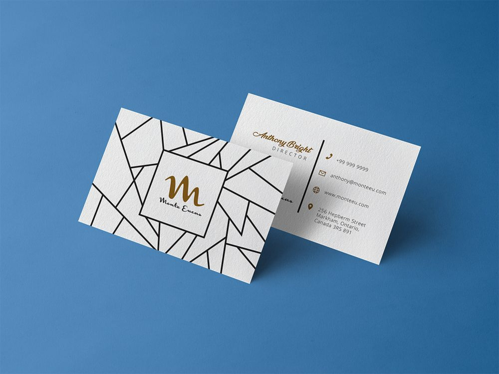 Free Business Card Design Template Mockup