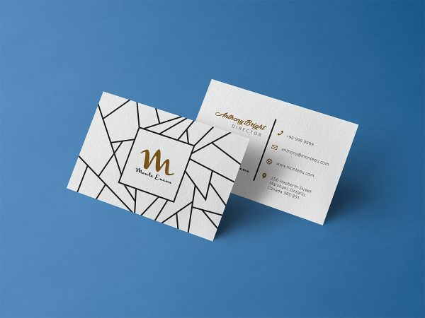 Free Business Card Design Template Mockup