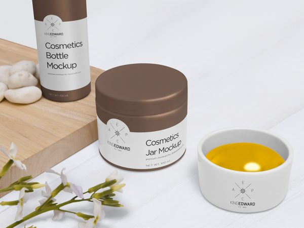 Free Cosmetic Jar and Bottle Mockups