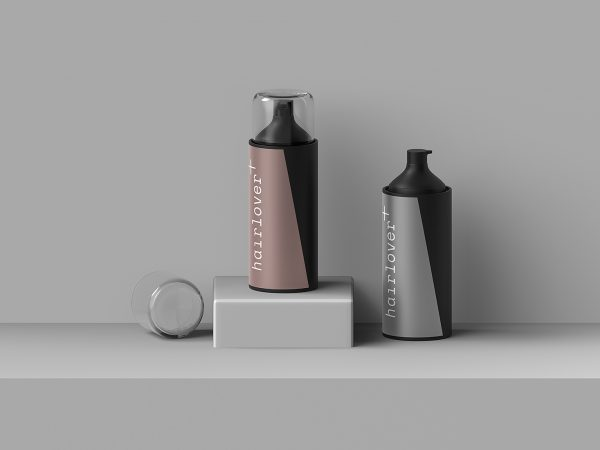 Free Hairlover Cosmetic Bottle Mockup