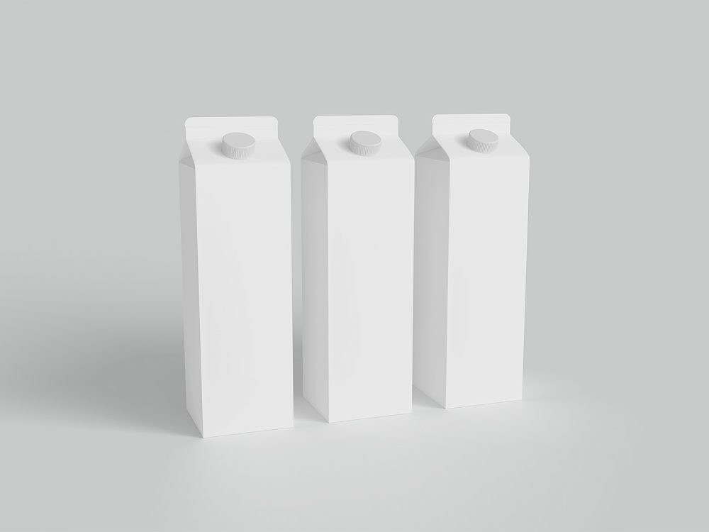 Free Milk Carton Packaging Mockup