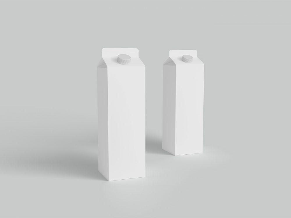Free Milk Carton Packaging Mockup
