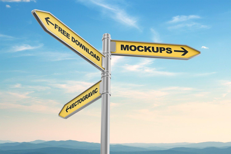 Signs Mockups | Free Mockup