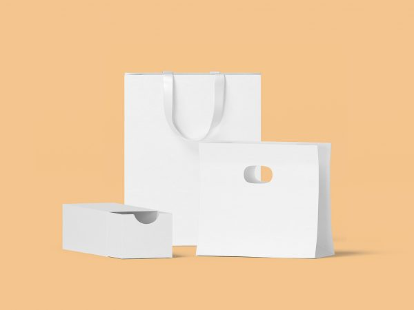 Box and Bag Scene Creator Mockup