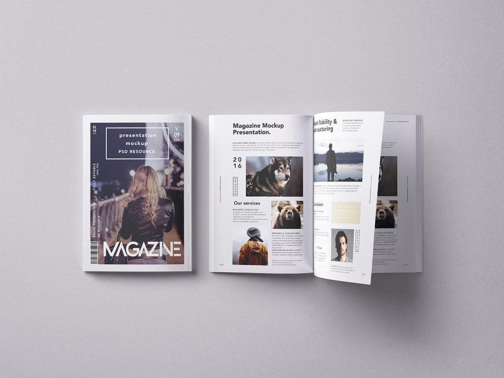Free Magazine Psd Mockup Free Mockup