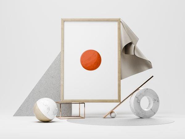 Free Modern Creative Poster Mockup