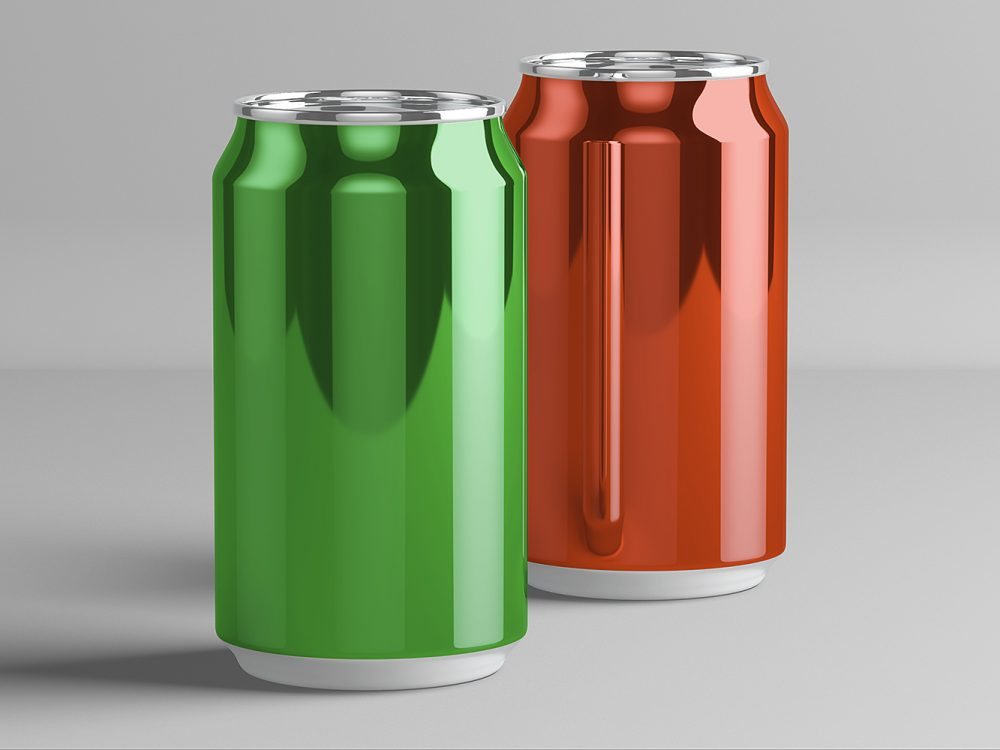 Free soda can PSD mock-up to showcase your branding tin packaging design in a photorealistic look. PSD file consists of smart objects. Enjoy!