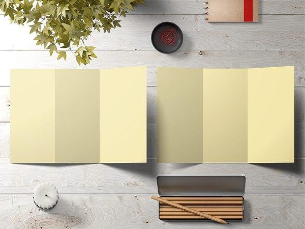 Free Tri-Fold Brochure Mockup