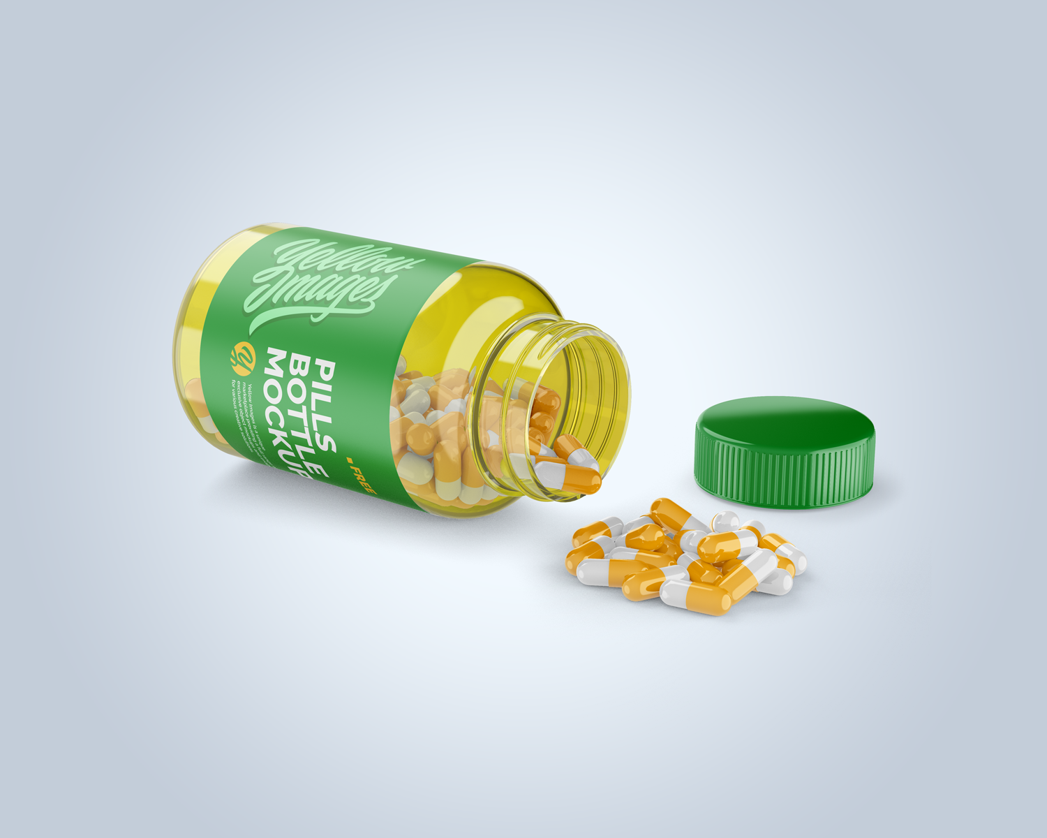 Download Opened Transparent Bottle With Pills Mockup Free Mockup Yellowimages Mockups