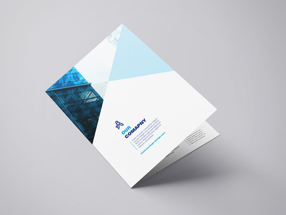 Free A4 Bifold Mockup Template