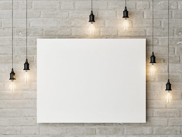 Free Canvas Painting Mockup