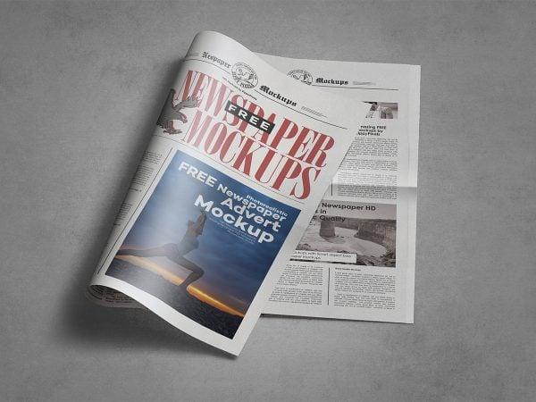 Free Newspaper Mockup