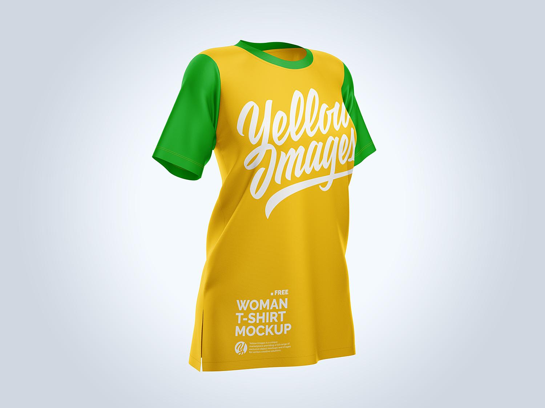 Download Free Women S Baggy T Shirt Half Side Mockup Free Mockup PSD Mockup Templates