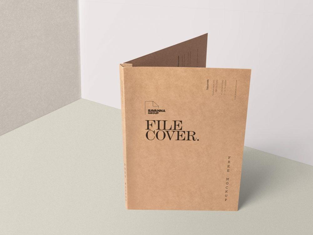 Brand Folder Stationery Mockup