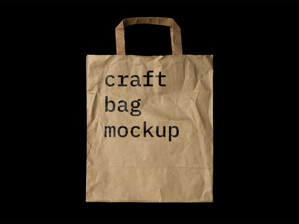 Free Craft Paper Bag Mockup