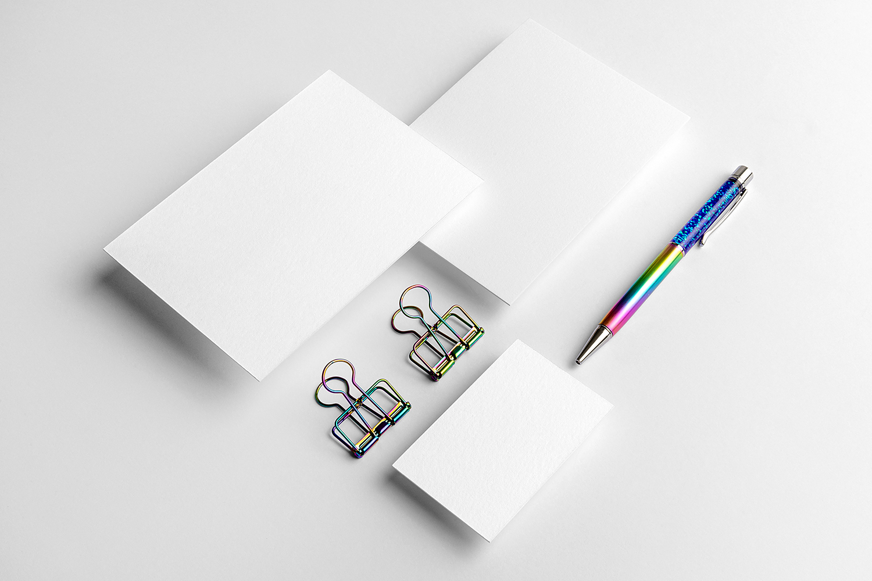 Free Letterhead with Business Card Mockup | Free Mockup