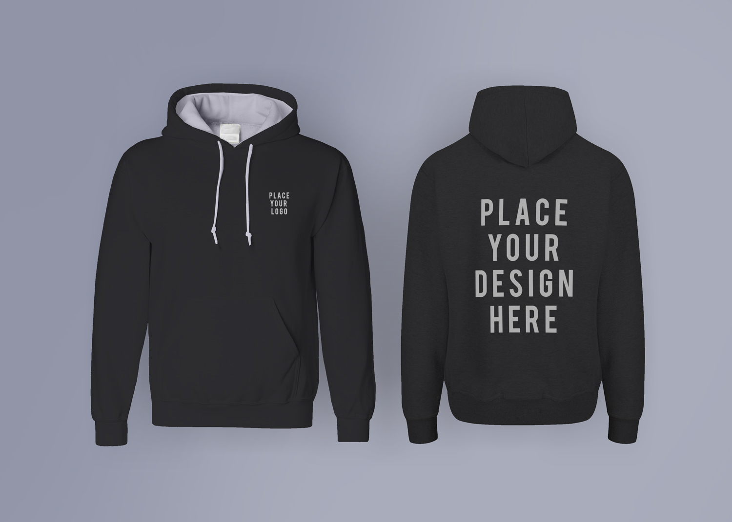 free hoodie mockup front and back