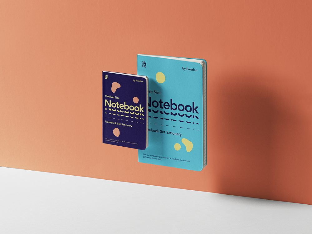 Gravity Notebook Set Mockup