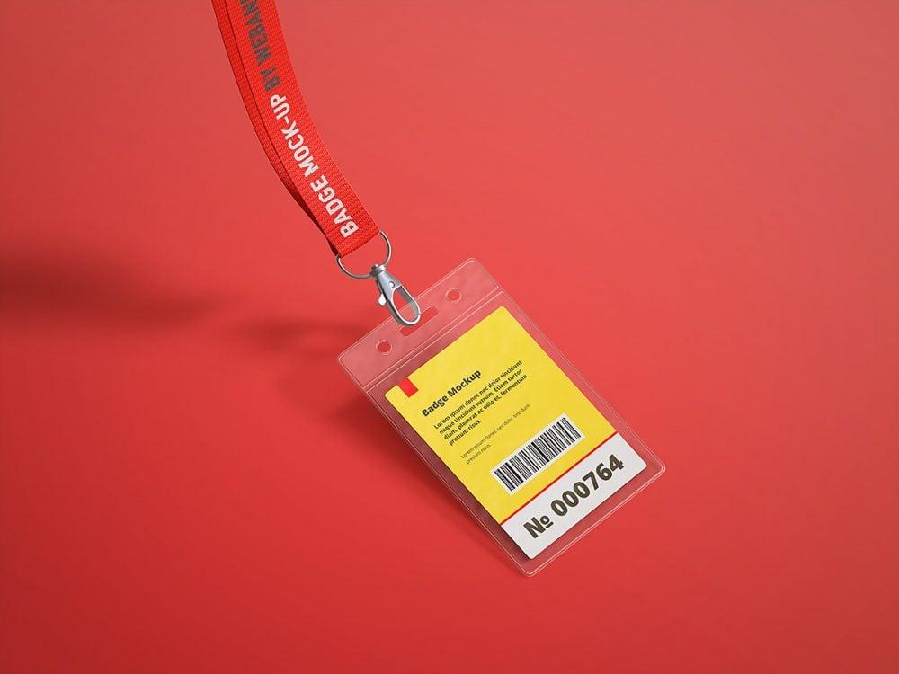 Name Tag / Badge Free Mock-Up