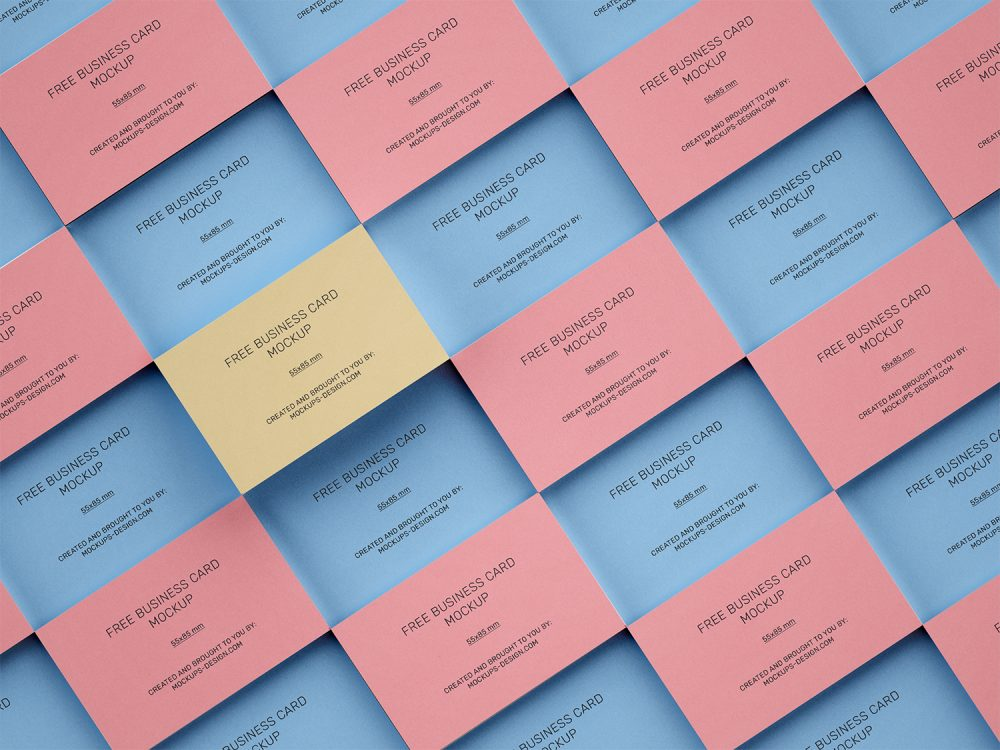 Stacked Business Cards Free PSD Mockup