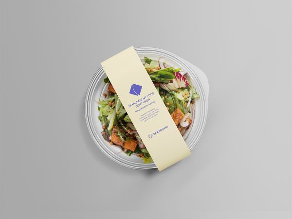 Transparent Food Container Mockup