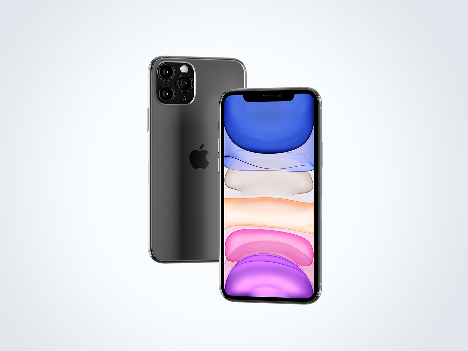 Floating iPhone 11 Pro Max Mockup | Free Mockup