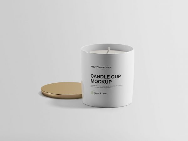 Free Candle Cup Mockup