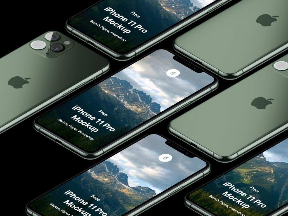 Free iPhone 11 Pro Max Mockup