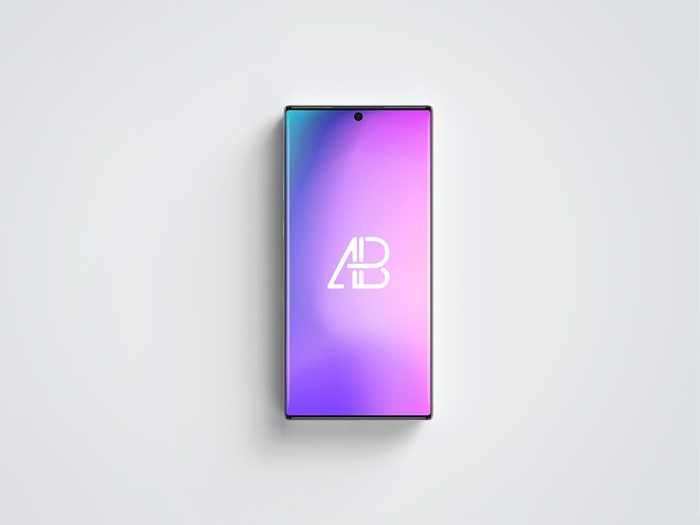 Galaxy Note 10 Pro Top View Mockup