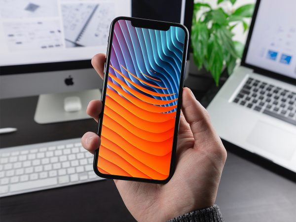 Man Holding iPhone X / XR / XS Mockup